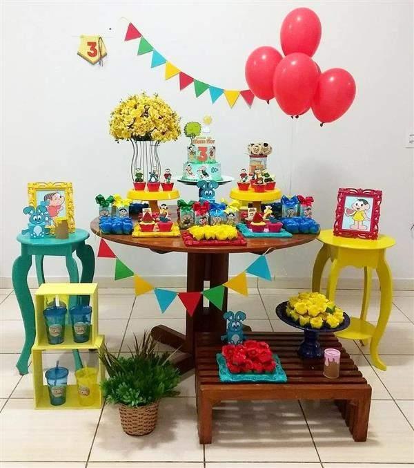 decoração festa turma da mônica