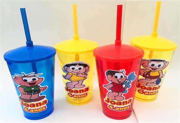 copos personalizados com canudo
