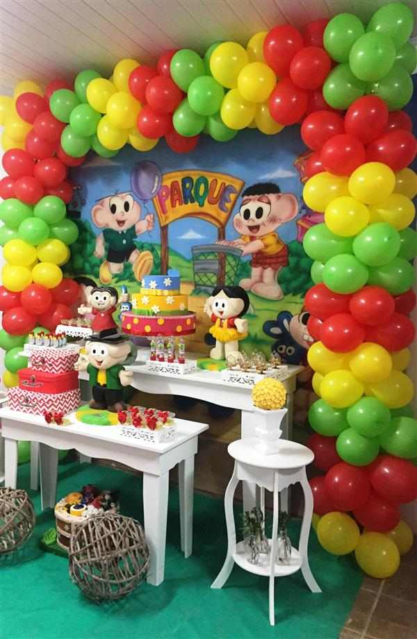 festa de aniversário tema turma da mônica