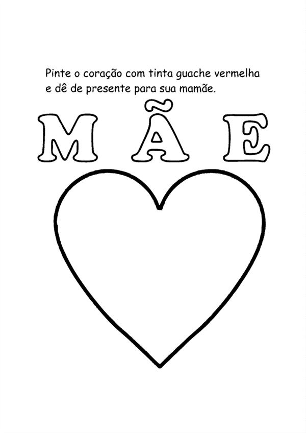 atividades Dia das Mães maternal