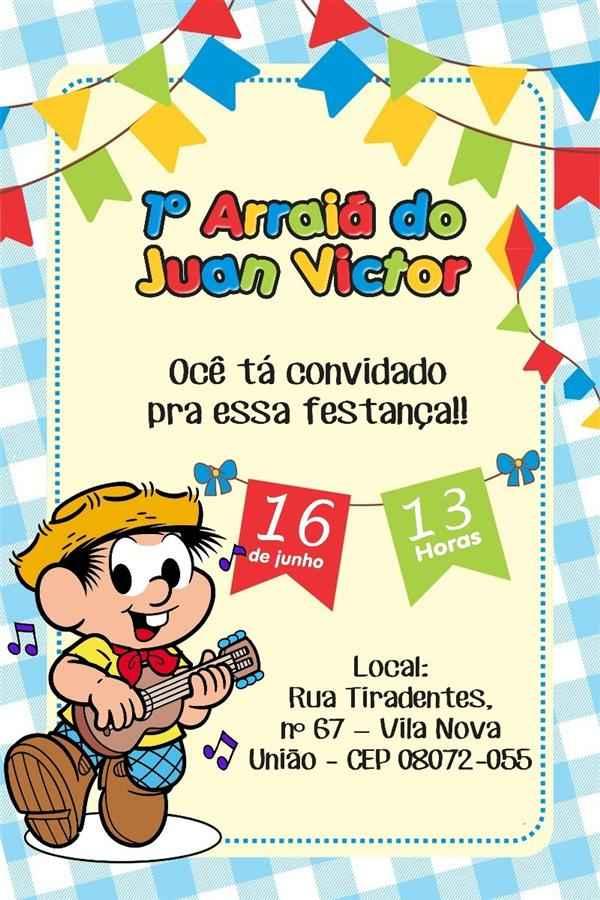 convite de aniversario festa junina