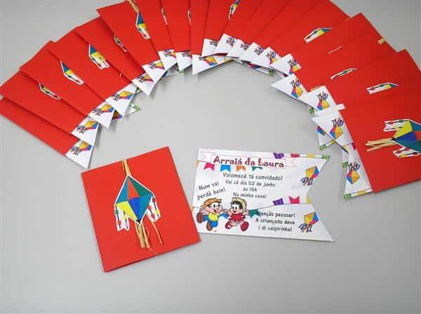 Convite de festa junina infantil