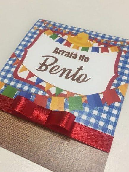 convite festa junina artesanal