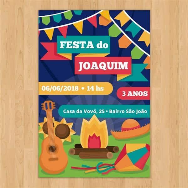 convite de festa junina para aniversario