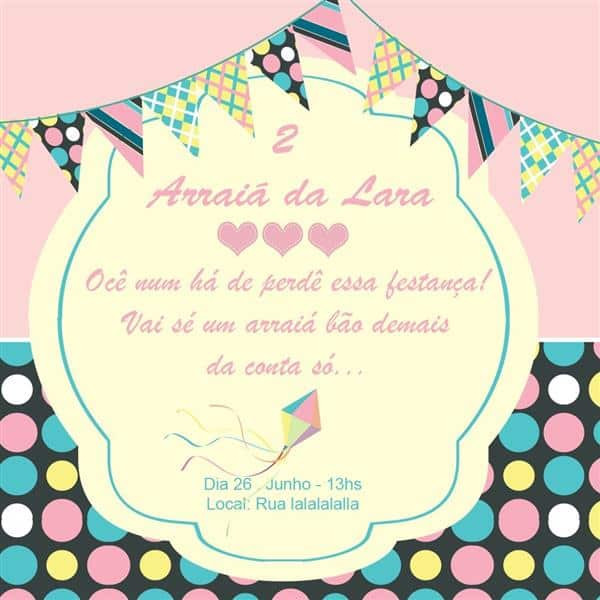 convite de festa junina texto