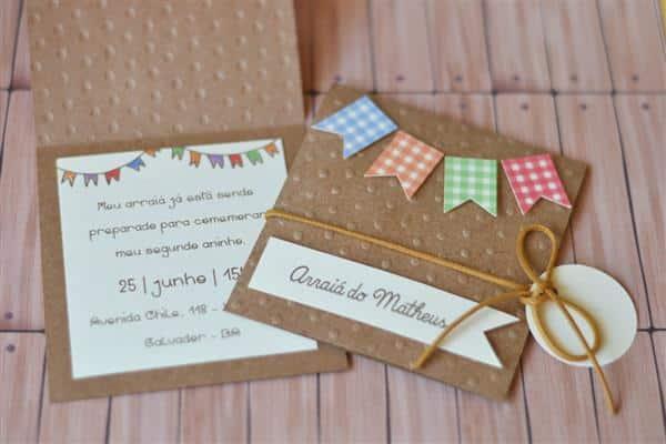 convite artesanal