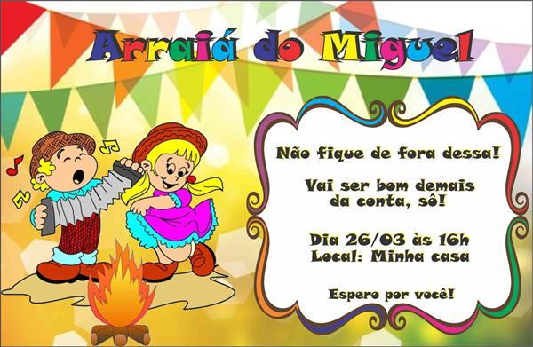 convite de festa junina com linguagem caipira