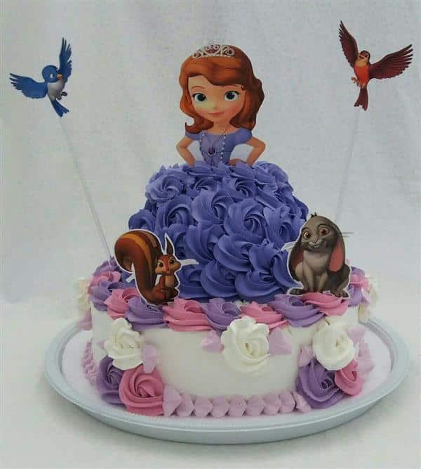 topper de bolo princesa sofia