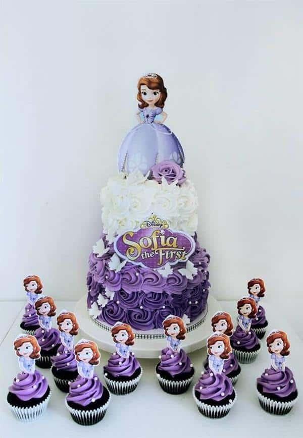 bolo princesa sofia glace