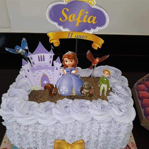 fotos de bolo da princesa sofia