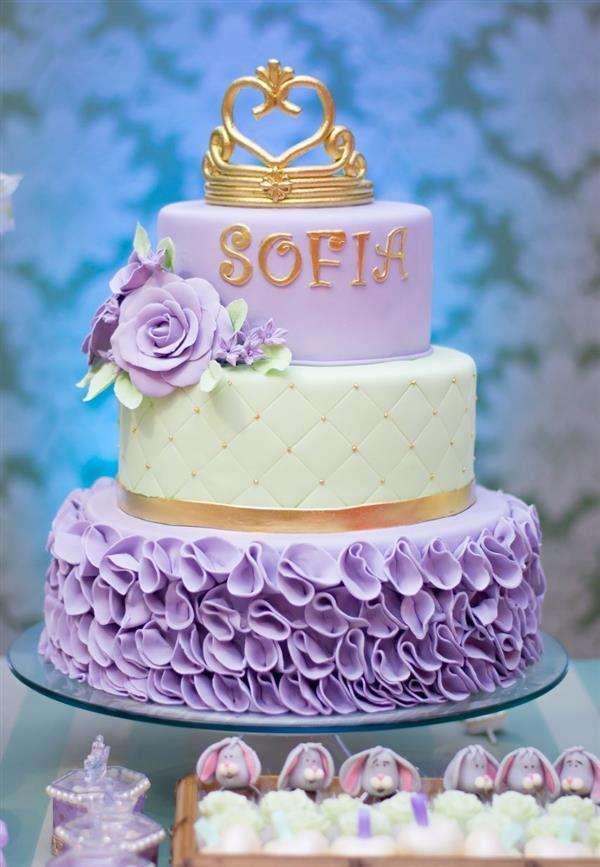 bolo de pasta americana princesa sofia