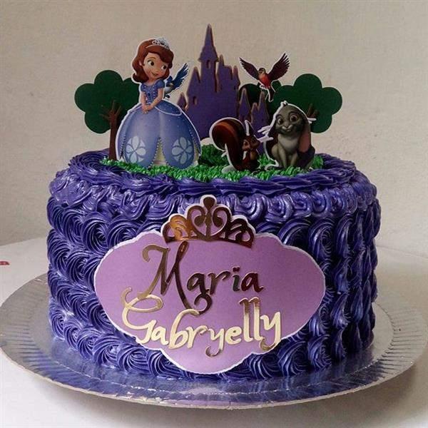 bolo de aniversario tema princesa sofia