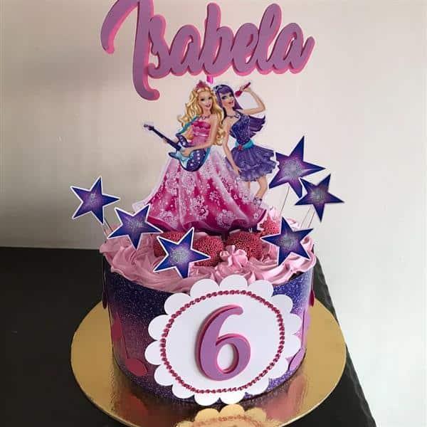 topo de bolo da barbie