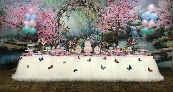 decoração de festa jardim encantado
