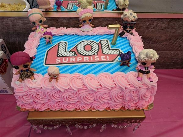 decoração de bolo da lol