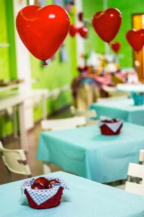 centro de mesa com balão