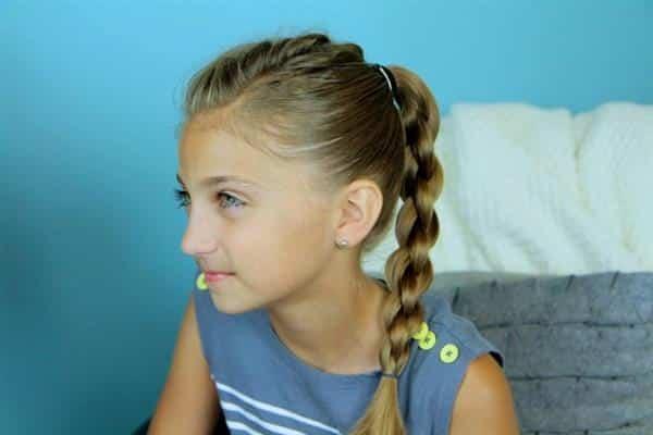 penteados infantis com trança