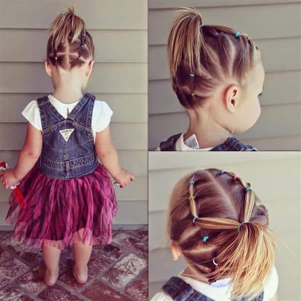 fotos de penteados infantis 2020