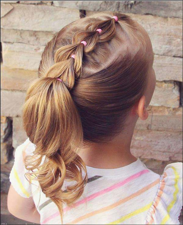 penteado infantil simples