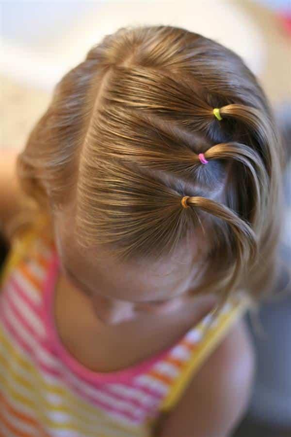 imagens de penteados infantis 2020