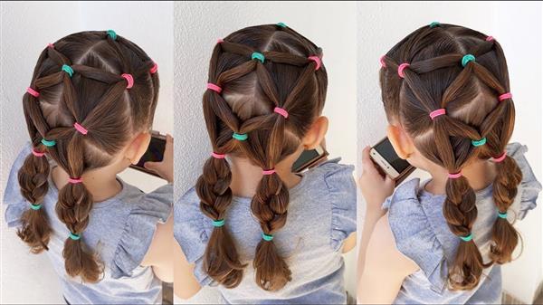 penteados infantis para festa junina