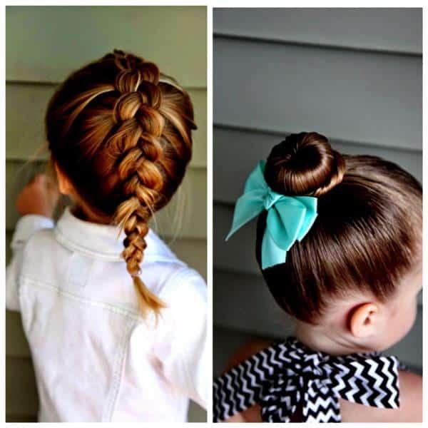 penteados infantis para casamento