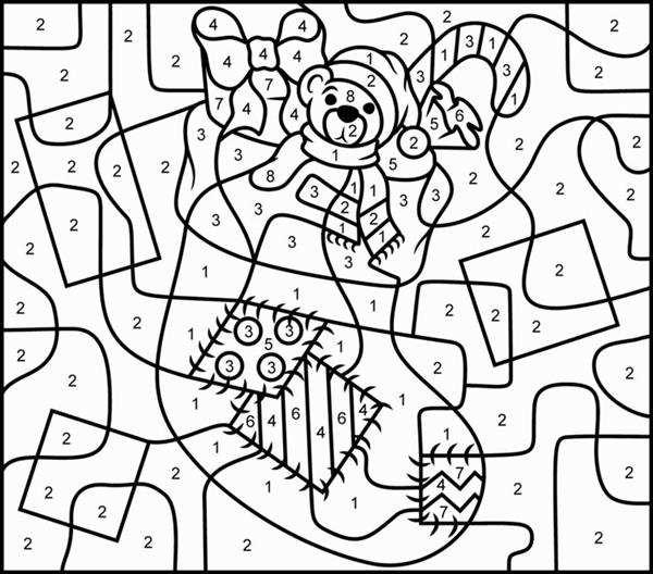 desenhos de natal com numeros