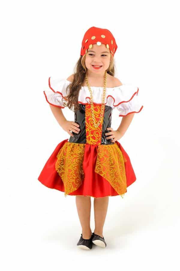 fantasia de carnaval infantil cigana