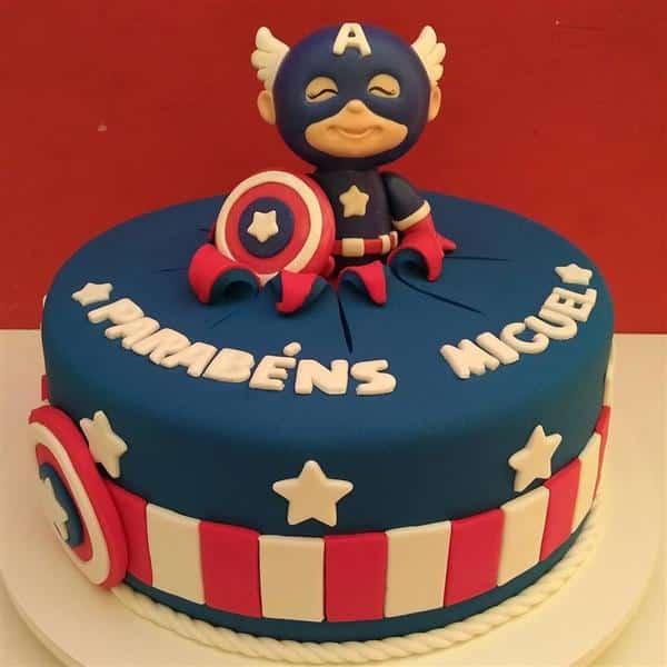 bolo do capitão américa baby