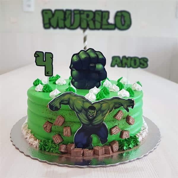 fotos de bolo do hulk