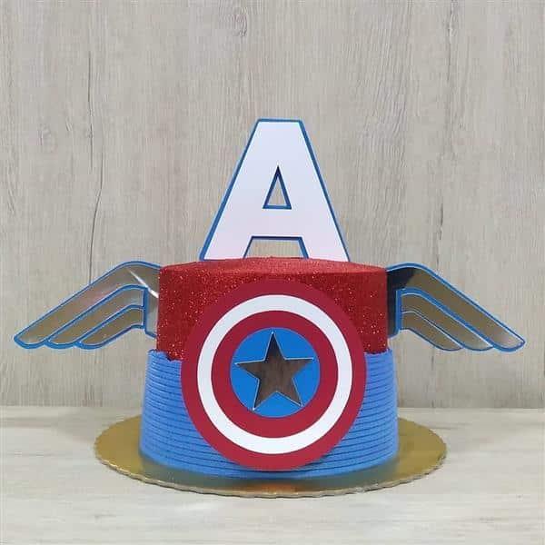 bolo do capitão américa redondo
