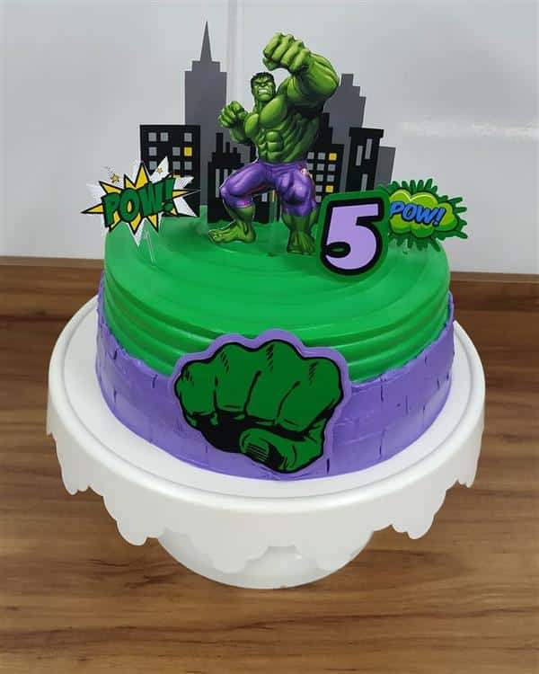 decoração de bolo do hulk