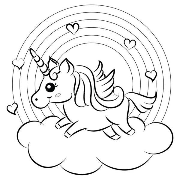 unicornio na nuvem