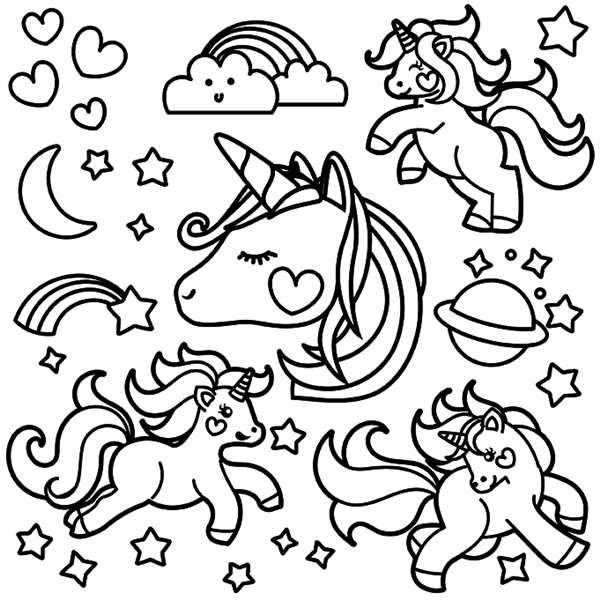 unicornio com arco iris