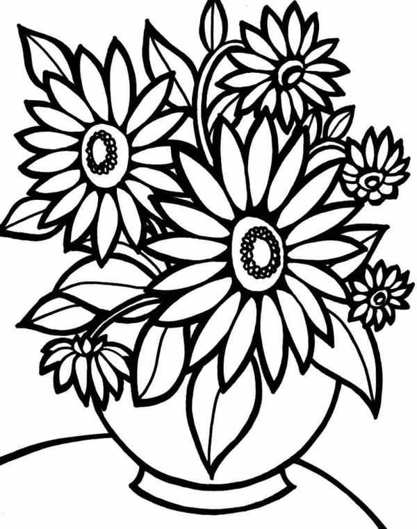 desenhos de flores grandes