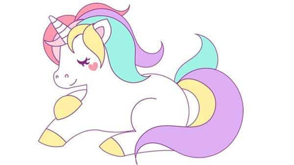 unicornio deitado