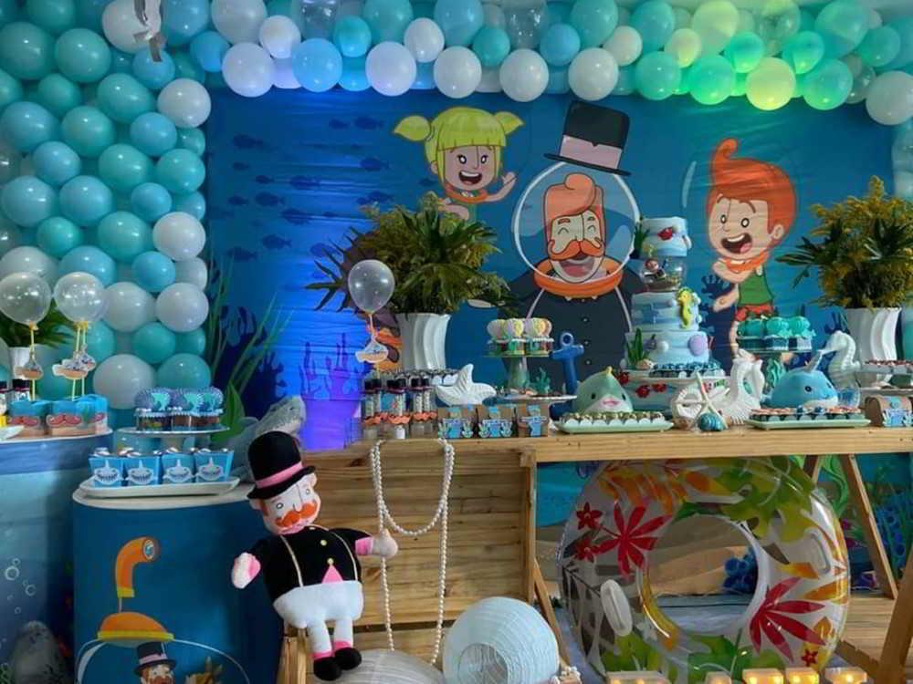 decoração para festa infantil de luxo