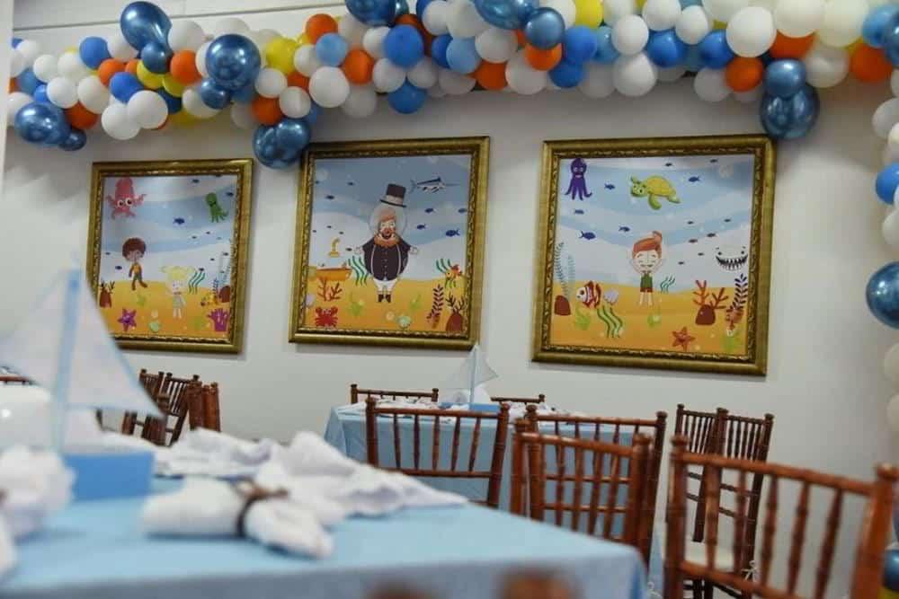 decoração mundo bita fundo do mar