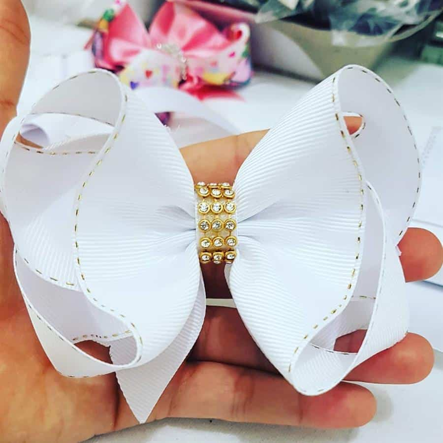 modelo de laço branco