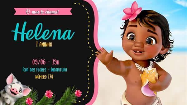convite moana baby