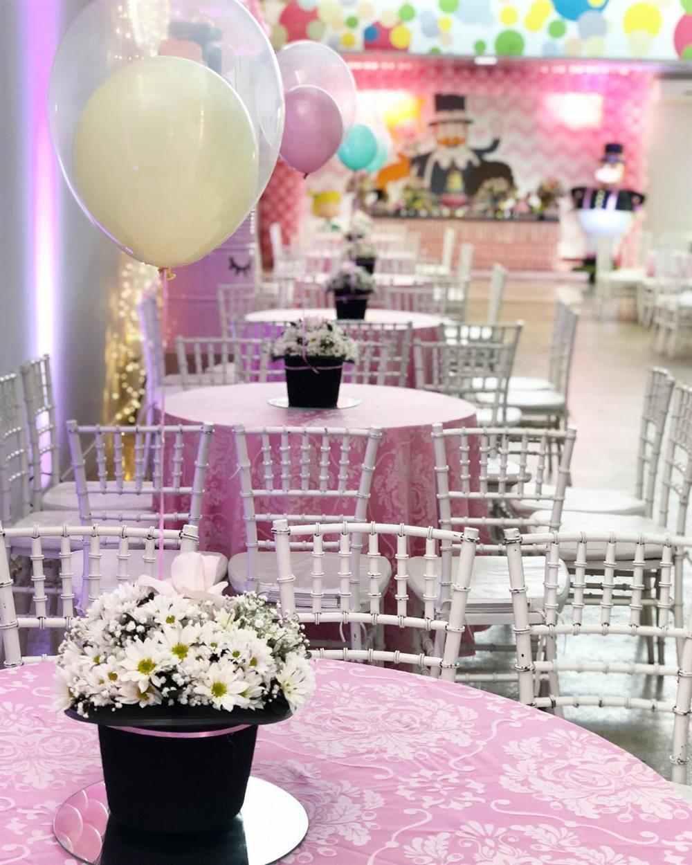 centro de mesa mundo bita rosa