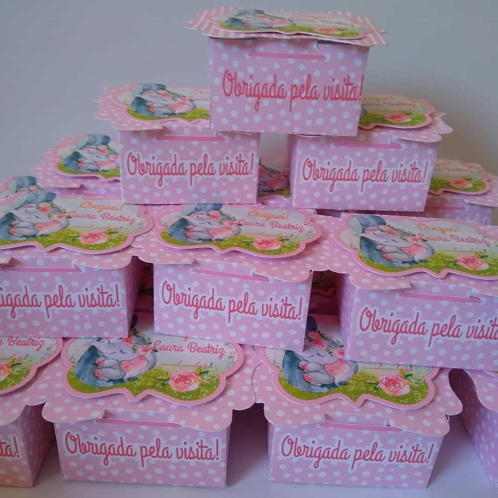 caixa para lembrancinha maternidade