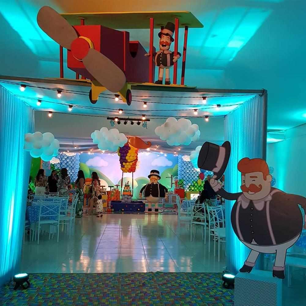 salão de festas decorado