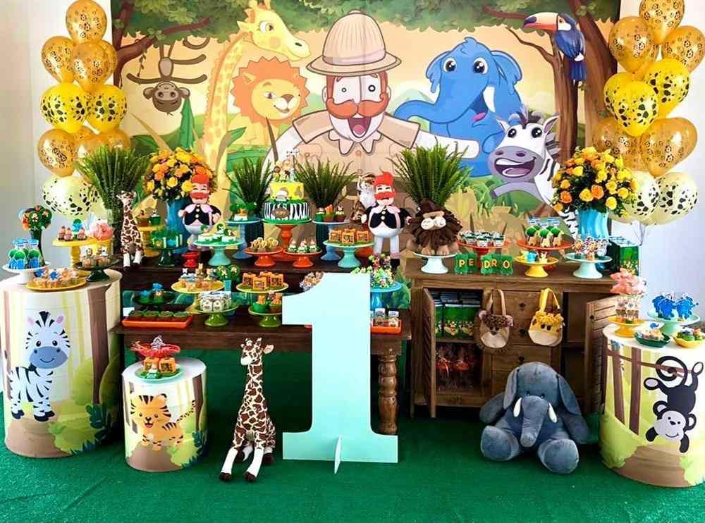decoração mundo bita safari