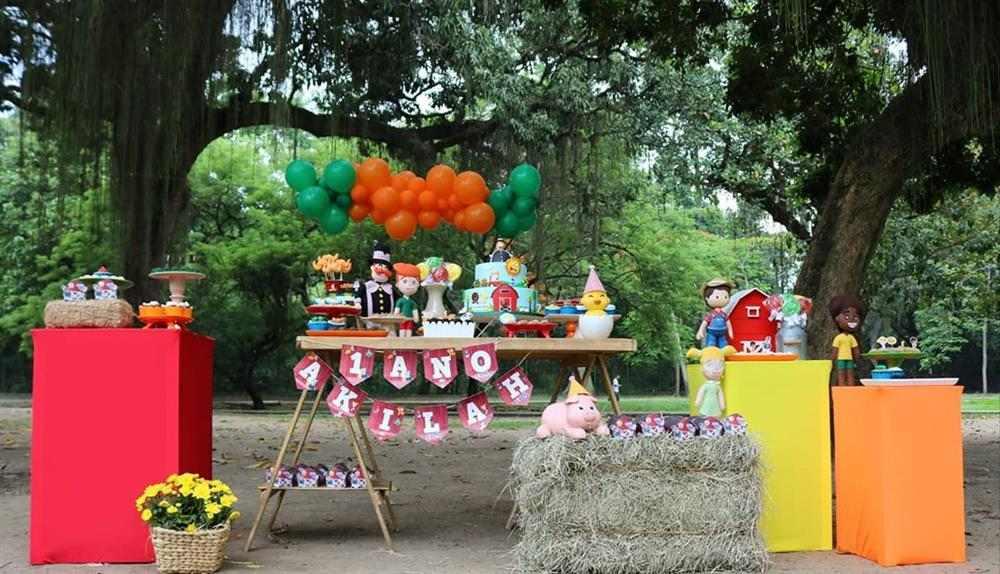 festa infantil ao ar livre