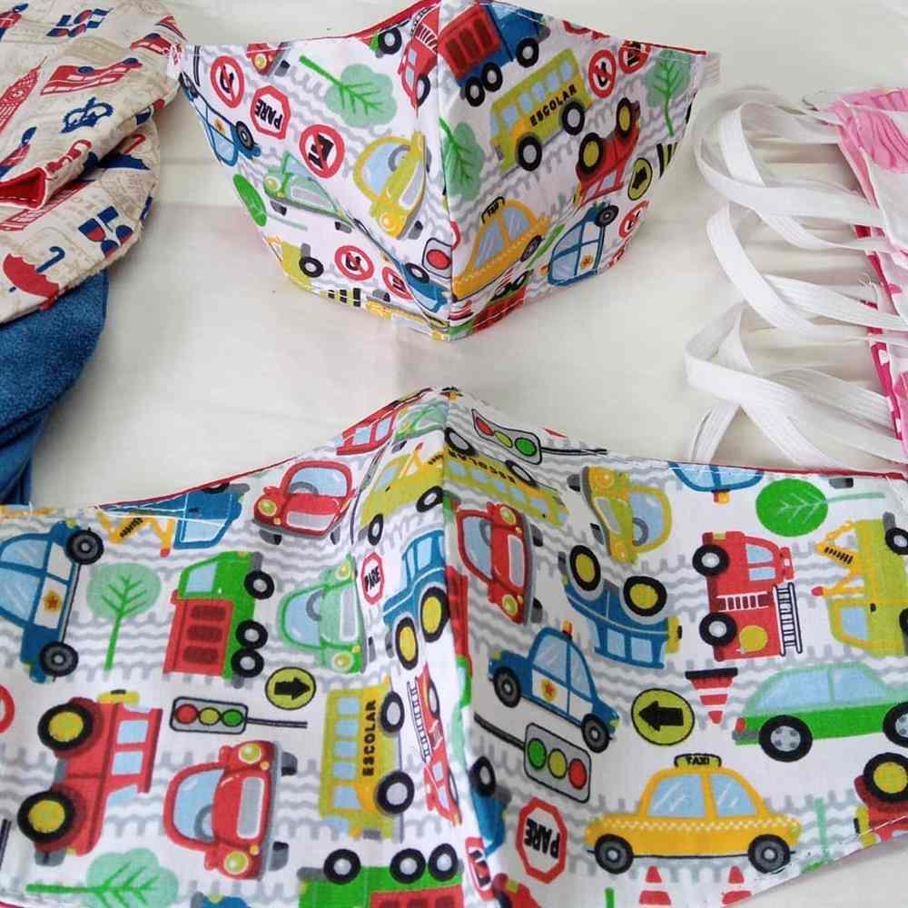 mascara infantil carros