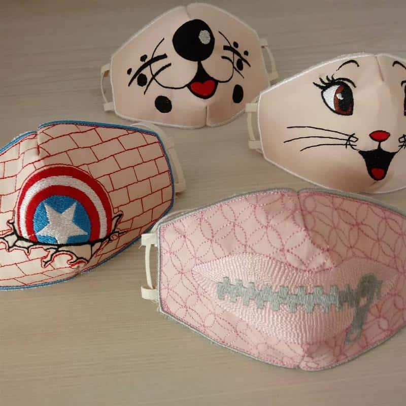 mascara de tecido infantil com filtro