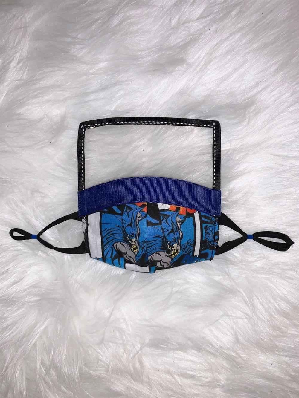 mascara infantil com viseira herois