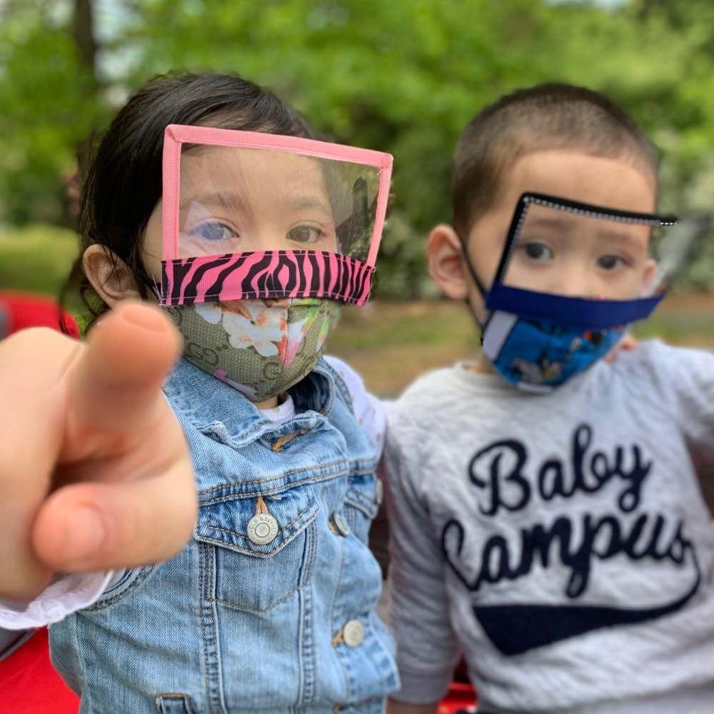 como fazer mascara infantil com viseira