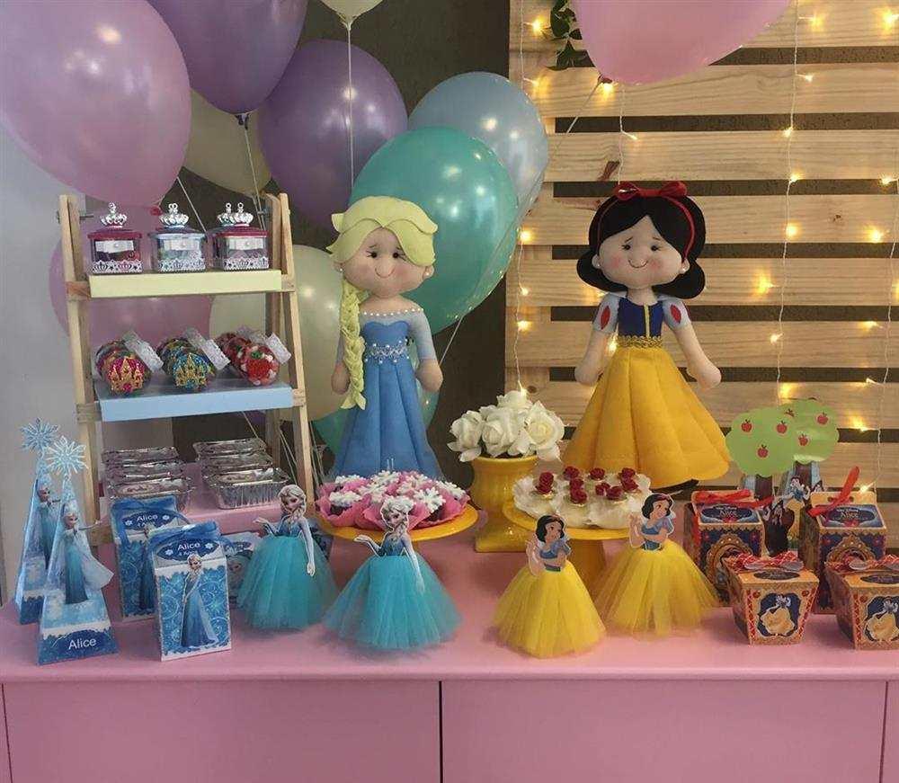 decoração para festa das princesas simples